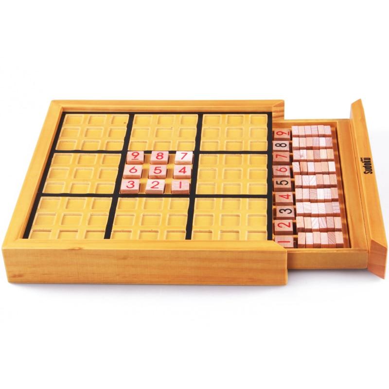1 pièces jeu de société logique en bois en bois jeux éducatifs de Puzzle pour enfants