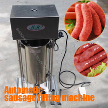 1PC High quality 10L Electric stainless steel Manual reliable sausage filling machine 110/220V 25W  Sausage machine