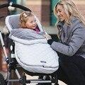 Inverno Da Criança Recém-nascidos Velo Stroller Crianças Saco de Dormir Envoltório Bebê Cobertor Panos Bebê Swaddle Envoltório