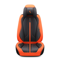 For Citroen C3 XR C4 C4L C5 C6 C Elysee 3D Full Surround Design Sports Cushion Wear Resistant Leather Car Seat Cover For 5 Seats