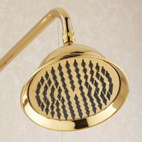 8.2 Inch Large Round Golden Gold Color Brass Bathroom Rain Rainfall Shower head Bathroom Fitting ash045