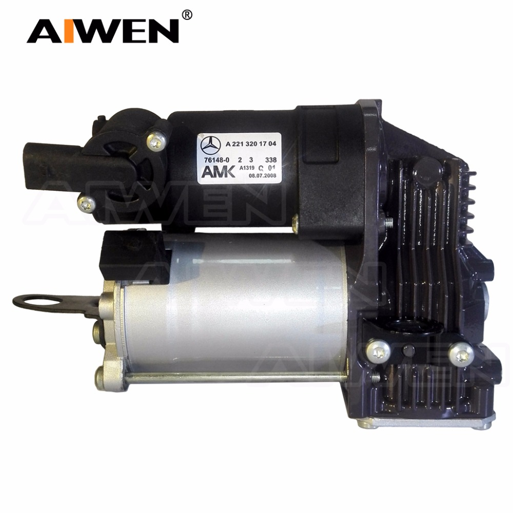 Mercede W221 W216 CL500 CL550 CL600 CL63 AMG Air Suspension Pump Air Compressor Air Ride 2213201704 2213201604 2213200704