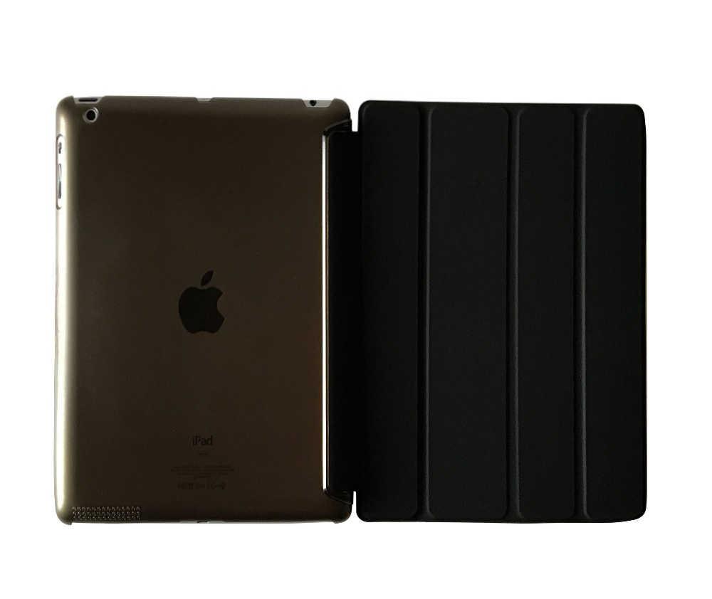 Kasus untuk iPad 2 iPad 3 iPad 4 YRSKV PC Keras + PU Kulit pintar Auto Sleep Wake Kasus Ultra Slim Tablet Kasus untuk iPad 2/3/4