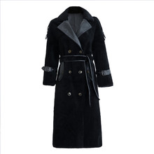 High Quality Explosions Leisure patchwork  full wool matching  Dresses Women Winter Casual  Dress