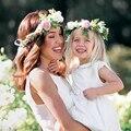 Lovely Baby Crianças Handmade Rose Flor Headband faixa de Cabelo Coroa Cocar Baby girl Headwear New 1 Pc