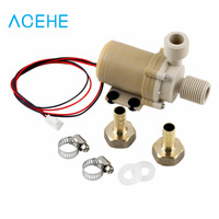 1pc New Solar DC 12V 3M Hot Water Circulation Pump Brushless Motor Water Pump Worldwide Store