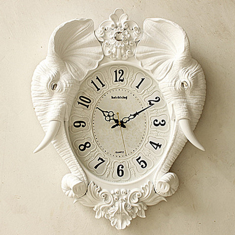 Continental retro wall clock elephant creative arts living - Watch the elephant in the living room ...