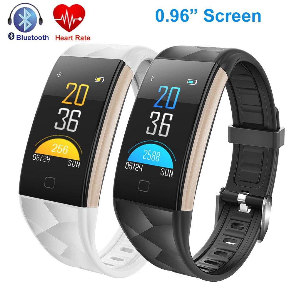 Bracelet à puce T20 Moniteur de Fréquence Cardiaque Sang Pression Fitness Tracker Activité Bracelets Pour Android IOS PK Mi Bande 3 Smart bande