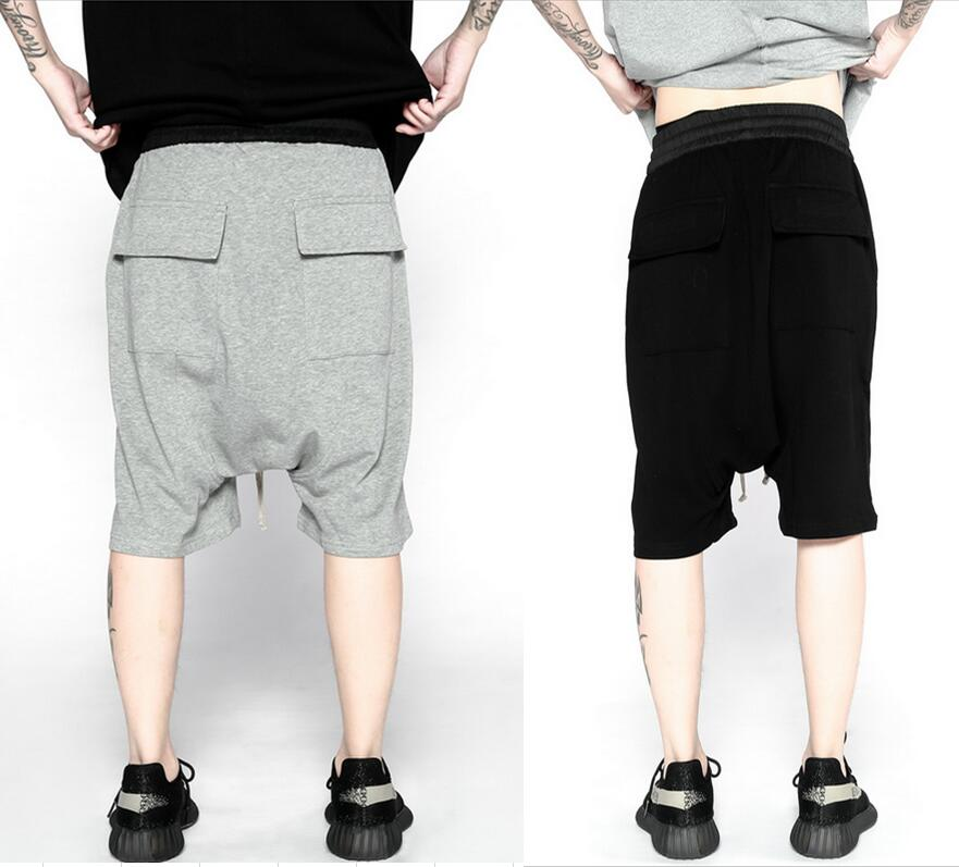 2017 men summer spring/summer fashion korean short big mens urban clothing 30 40 black/grey plus ...