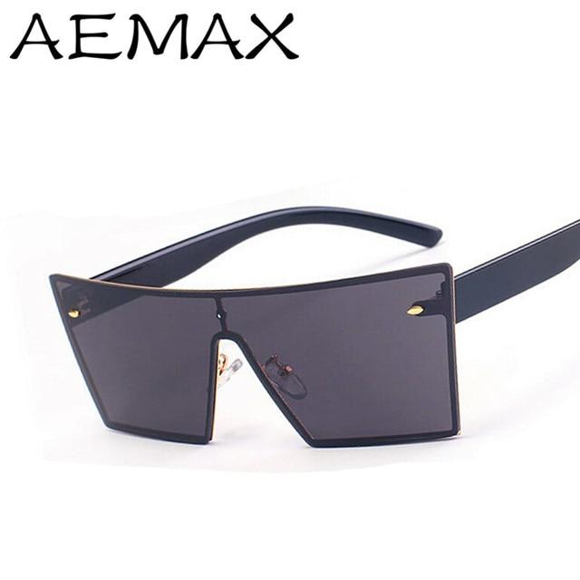 adb4b142f4d AEMAX 2016 Rimless Square Mirror Sunglasses Men Women Italy Brand Designer  Fashion Vintage Sun Glasses UV400