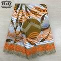 Nuevo diseño de tela Batik con encaje de alta calidad bordado de cera Africana tela de encaje 100% algodón Nigeria Guipure cera encaje 6 yardas