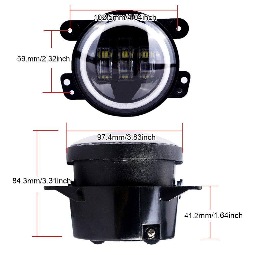 2PCS / Cüt Wrangler JK 07 ~ 14 Yüksək Güclü LED Sis Lampası, - Avtomobil işıqları - Fotoqrafiya 5