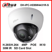 Dahua 4MPโดมกล้องIP DH-IPC-HDBW4431R-S H.265 H.264 4ล้านพิกเซลIK10 IP67กันน้ำกล้องIP