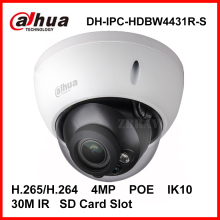 Dahua 4MP Dome IP Camera DH-IPC-HDBW4431R-S H.265 H.264 4Megapixel IK10 IP67 Water proof Network IP Camera with POE SD Slot CCTV(China)