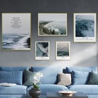 Современные стены Книги по искусству красивые пейзажи печати холст Плакаты Металл живопись Рамки стены Креативные фотографии скандинавск