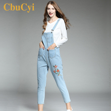 цена CbuCyi Women Jumpsuits Plus Size 5XL Embroidered Jeans Overalls for Women Long Rompers Loose Casual Straps New Ladies Jumpsuits в интернет-магазинах