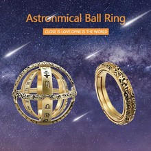 Hot Astronomical Sphere Ball Ring Cosmic Finger Ring Couple Lover Jewelry Gifts MSK66 high quality astronomical ball cosmic rings gold silver universe constellation finger ring couple lovers creative jewelry gifts