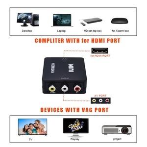 Image 2 - TISHRIC Mini HDMI To RCA/AV CVBS Male Audio Video Converter Adapter Box HDMI2AV NTSC PAL Composite Cable Scaler 1080p ForTV