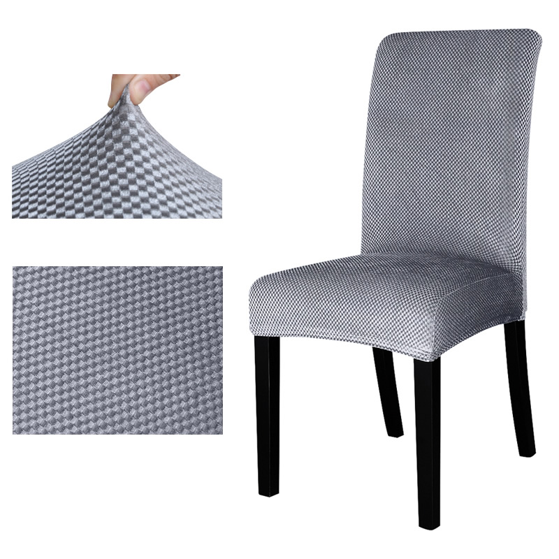 Jacquard pattern Universal chair cover stretch seat Chair Covers Protector Slipcover for Hotel Dining banquet home decoration