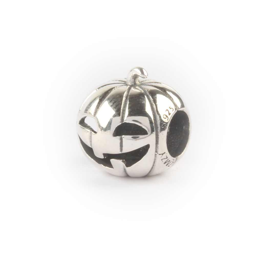 a0fdcd019 ZMZY Brand New Authentic 925 Sterling Silver Charms European Halloween  Pumpkin Ghost Beads Fit Pandora Charm