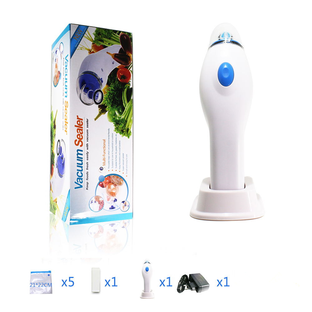 Vacuum Sealer Machine Handheld electric vacuum pump home kitchen vacuum machine gift 5pcs vacuum bag