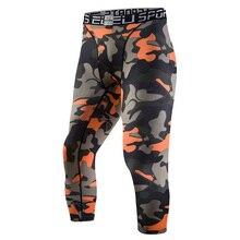 Men Compression Running Tights 3/4 Pants Leggings Sports Fitness Soccer Riding Basketball Jogging Slim Fit Running Shorts Jogger