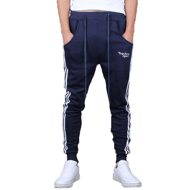 Nueva llegada!!! 2016 Nuevo Otoño Moda de Los Hombres Cómodos pantalones harem Ocasional, hombres Camiseta Slim fit Color Sólido Pantalones A45