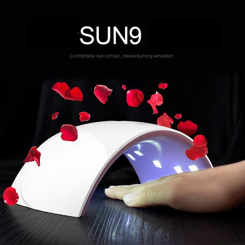 SUN9S 36 Вт Гели для ногтей барабан Авто Senser 365nm 405nm двойной светодиодной УФ Быстрый и здоровье отверждения Гели для ногтей обновленная версия и…