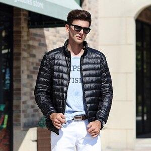Image 3 - AIRGRACIAS 2018 Top Quality Men Down Jacket Light Thin 90% White Duck Down Jacket Men Parka Casual Outer coat Doudoune Homme