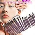 Nuevo 21 unids/set Pelo de Cabra de Alta Calidad Facial Fundación Blush Lip Ojo Multifuncionales Maquillaje Profesional Cepillos Cosméticos Establece
