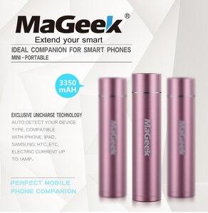 Image 2 - MaGeek Banco de energía de 3350mAh, batería de reserva portátil, cargador externo, para Samsung, Xiaomi, teléfono móvil [Rosa]