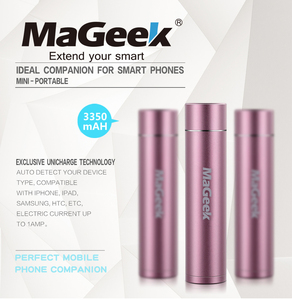 Image 2 - Mageek Power Bank 3350 MAh Di Động Sạc Dự Phòng Pin Externe Sạc Dự Phòng Powerbank Cho Samsung Xiaomi Di [Màu Hồng]