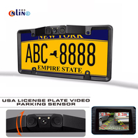 2 pcece   automobile     sensor   HD rear view camera License Plate Frame Tag Cover Holder For Auto Vehicles Only For American Canada