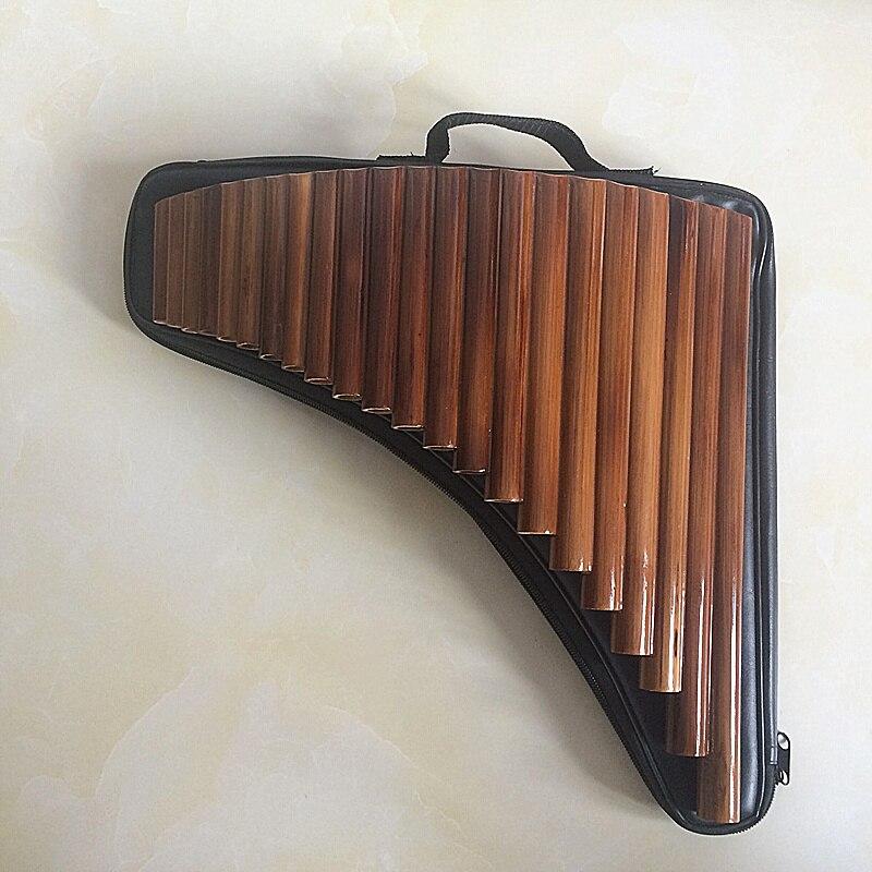Flûte de pan 22 Tuyaux ABS en plastique ou du Matériel En Bambou Flûte Roumanie G Clé Flûte De Pan Musical Instruments 100% Nouveau Pan flûte avec sac - 6