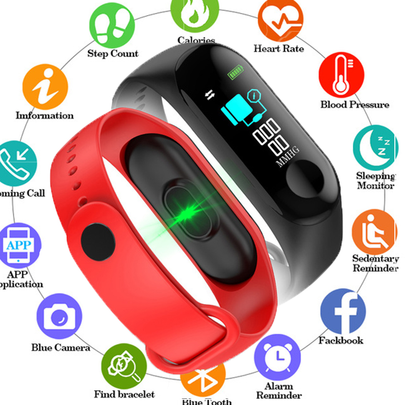 M3 Smart Watch Bracelet Heart Rate/Blood Pressure Monitor Pulse Wristband Fitness Tracker For Iphone Xiaomi PK mi band 3 watchM3 Smart Watch Bracelet Heart Rate/Blood Pressure Monitor Pulse Wristband Fitness Tracker For Iphone Xiaomi PK mi band 3 watch