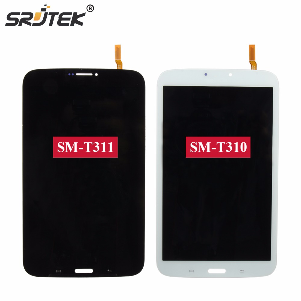Srjtek 8 For Samsung Galaxy Tab 3 8.0 T310 T311 SM-T310 SM-T311 LCD Display Matrix Touch Screen Digitizer Sensor Assembly brand new for samsung j1 lcd display with touch screen digitizer for samsung galaxy j1 j120f j120m j120h sm j120f lcd 3 color