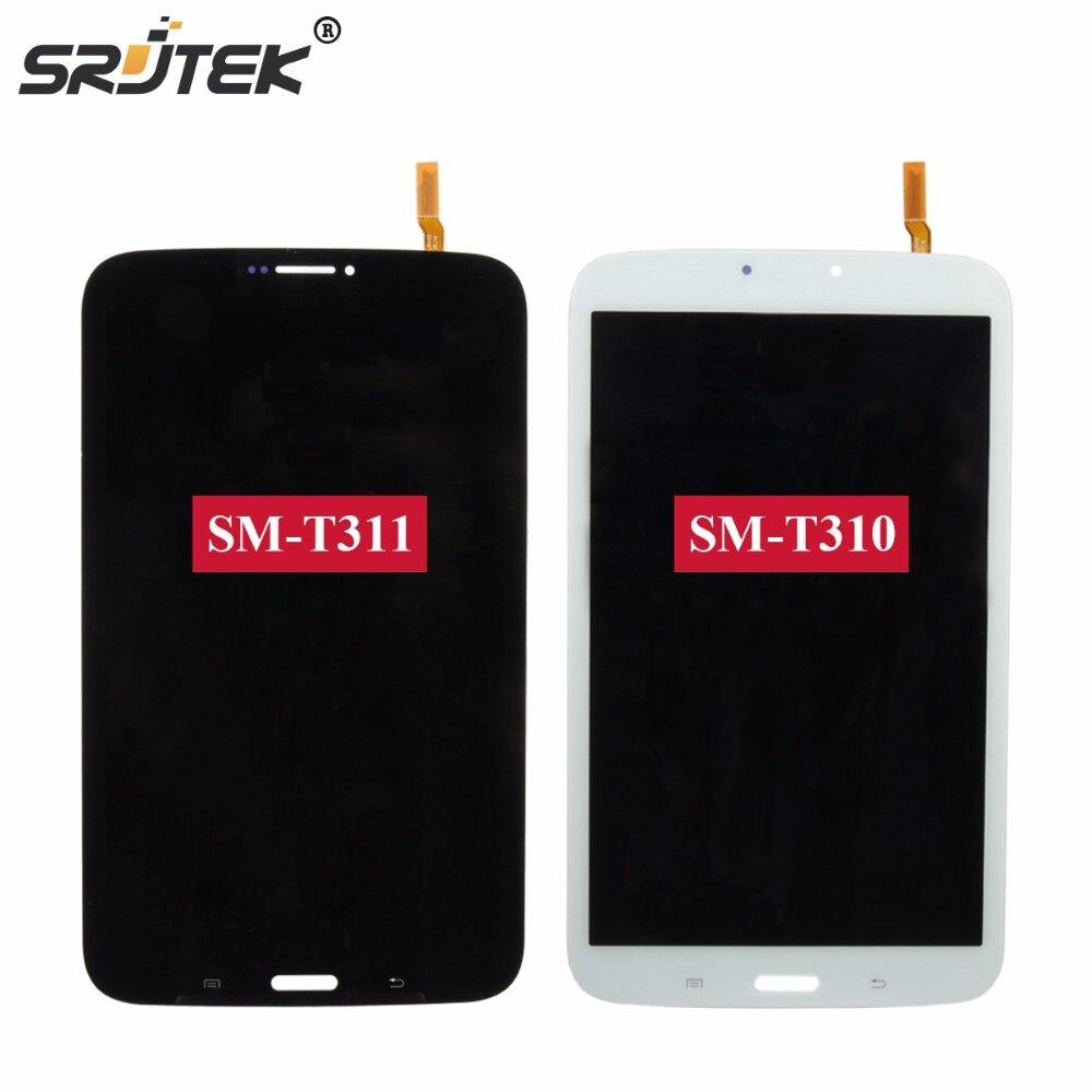 Srjtek 8 For Samsung Galaxy Tab 3 8.0 T310 T311 SM-T310 SM-T311 LCD Display Matrix Touch Screen Digitizer Sensor Assembly white 8inch for samsung for galaxy tab 3 sm t310 t310 lcd display screen touch digitizer sensor full assembly tablet pc