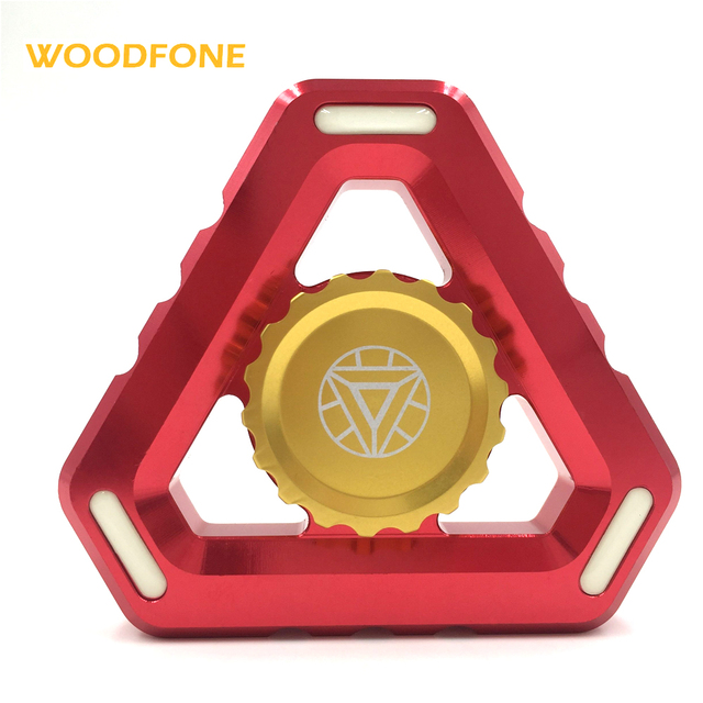Iron Man Luminous Fidget Spinners Toy Finger EDC Toys Metal Hand Spinner For Autism and ADHD Kids/Adult Funny Anti Stress