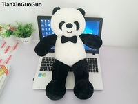 new style about 60cm lovely giant panda plush toy bowtie panda soft doll pillow birthday gift s0611