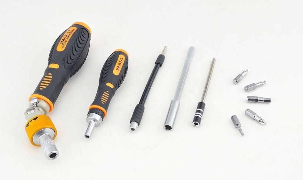 Купить с кэшбэком Jakemy JM-6113 Multitool Household Ratchet Screwdriver Set Mobile Phone Repair Tool Laptop Computer Car Electronics Tools Sets