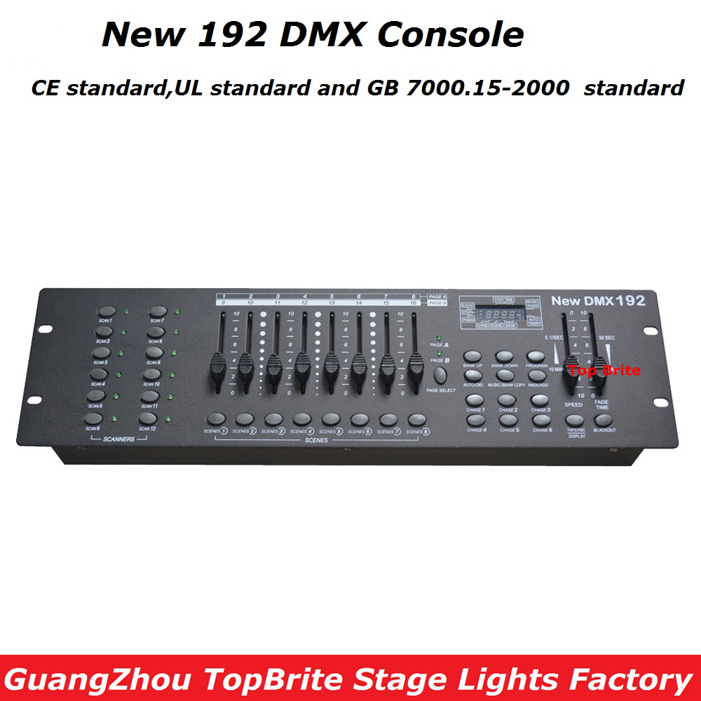 High Quality NEW 192 DMX Console Stage Lighting DJ Equipments DMX Controller For LED Par Moving Head Beam Lights Free Shipping 2pcs high quality 512 dmx console stage light equipment 192 dmx controller for stage lighting led par beam lights page 3