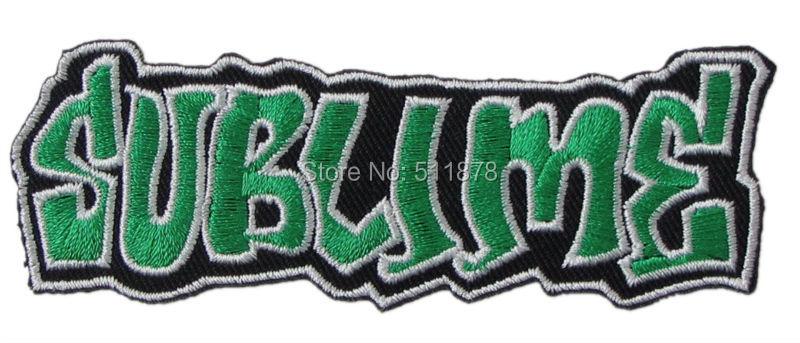 SUBLIME Banda de Música bordado de hierro en parche camiseta de transferencia de apliques de Metal pesado Rock Punk insignia-in Parches from Hogar y Mascotas    1