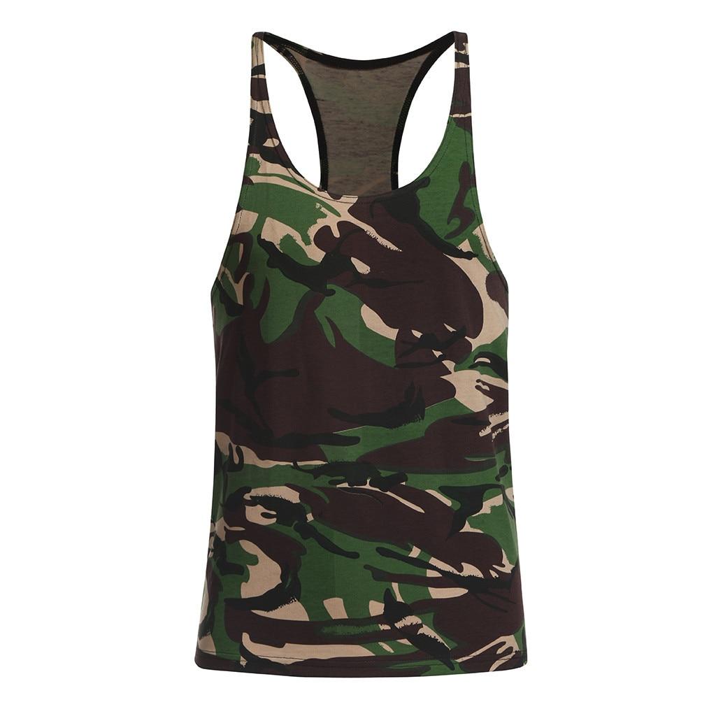 Boys Tank Top Shirt Uniform Green Camo