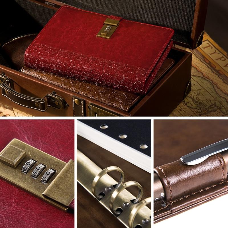 Cagie 2016 Vintage Parola Lock Spira Notepad Note de birou pentru - Blocnotesuri și registre - Fotografie 5