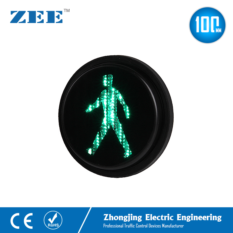 4inches Green Pedestrian Traffic Lamp Walking Man Mini Traffic Signal Light 100mm Traffic Modules