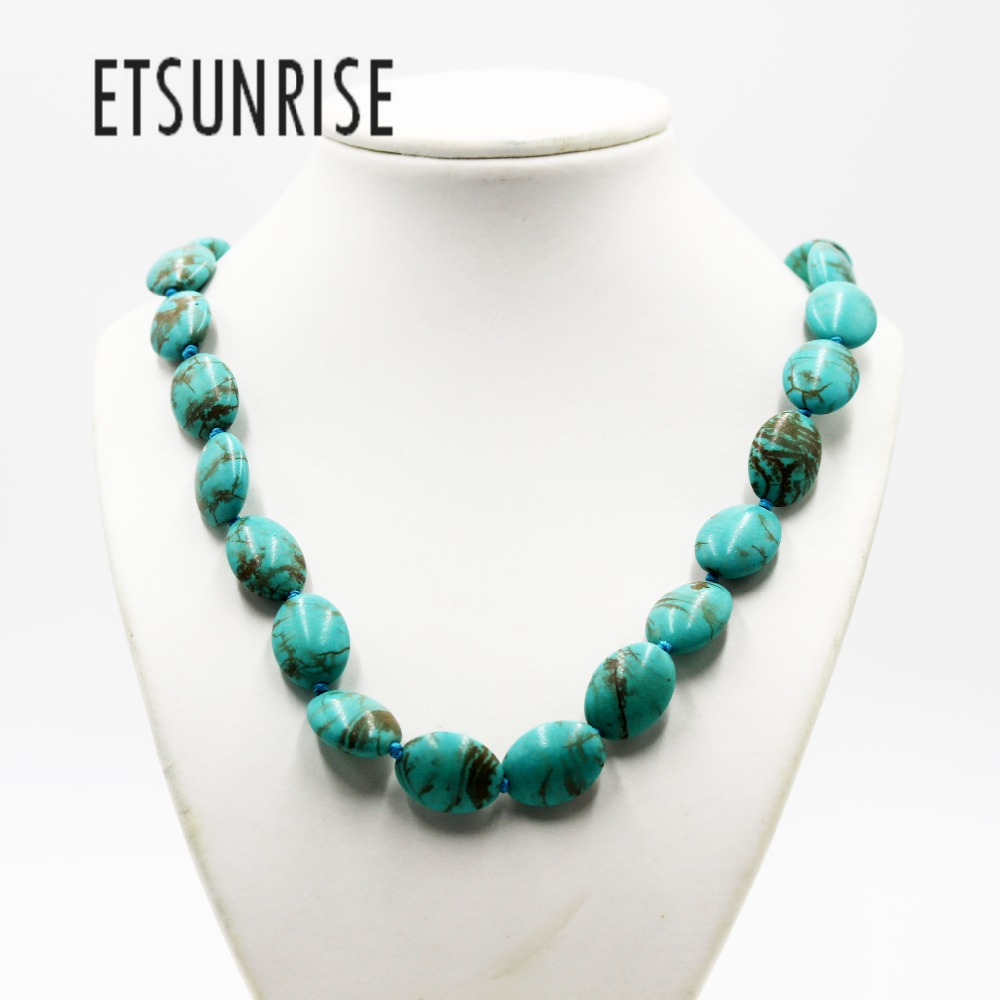 ETSUNRISE handwork green natural stone Lentils beads fashion Necklace jewelry