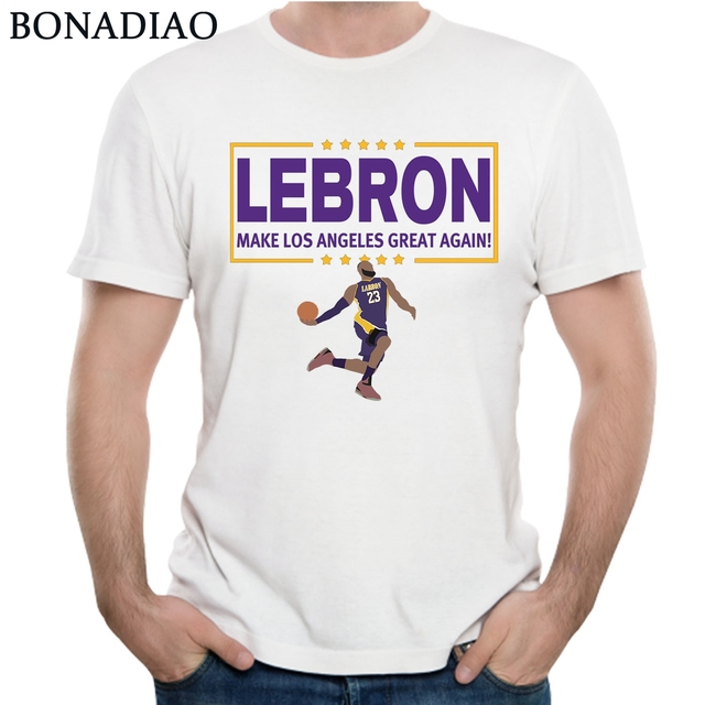 new concept 079b3 9a94f US $10.7 44% OFF|Aliexpress.com : Buy Lebron James Lakers T Shirt Lebron 23  Lakers T Shirt For Man Novelty Design Custom Homme Tee Shirt from Reliable  ...