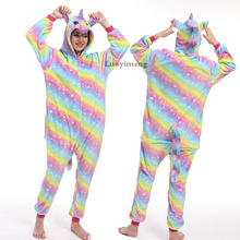 Autumn Winter Pajamas Sleepwear For Women Full Sleeve Cartoon Onesies Pijamas Un