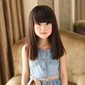 Sexy Synthetic Straight Neat Bang Wigs Cute Girls Kids Children Costume Hair For Cosplay Wigs+1*Hairnet Free For Children