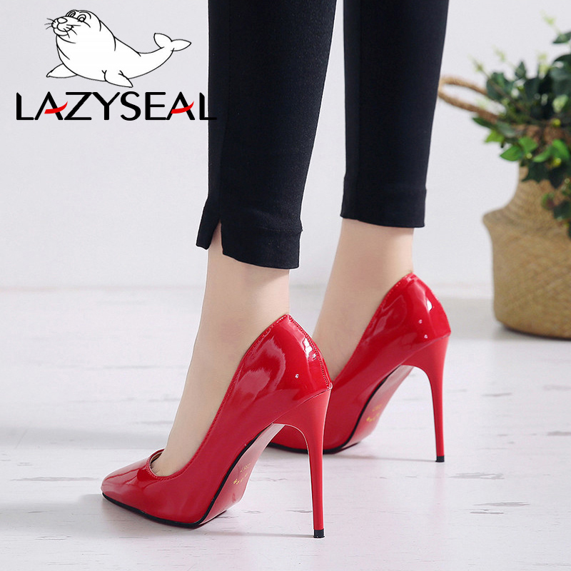 LazySeal Women Pumps High Heels Stiletto Pointed Toe Female